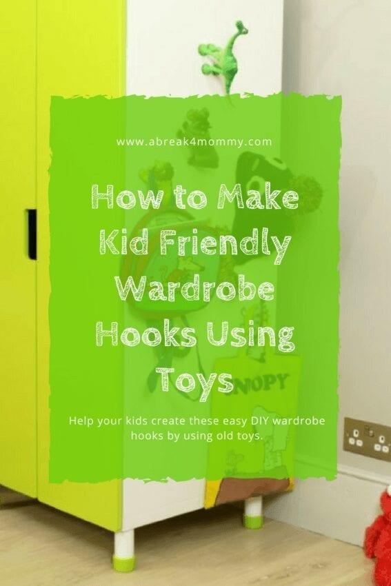 How to Make Kid Friendly Wardrobe Hooks Using Toys