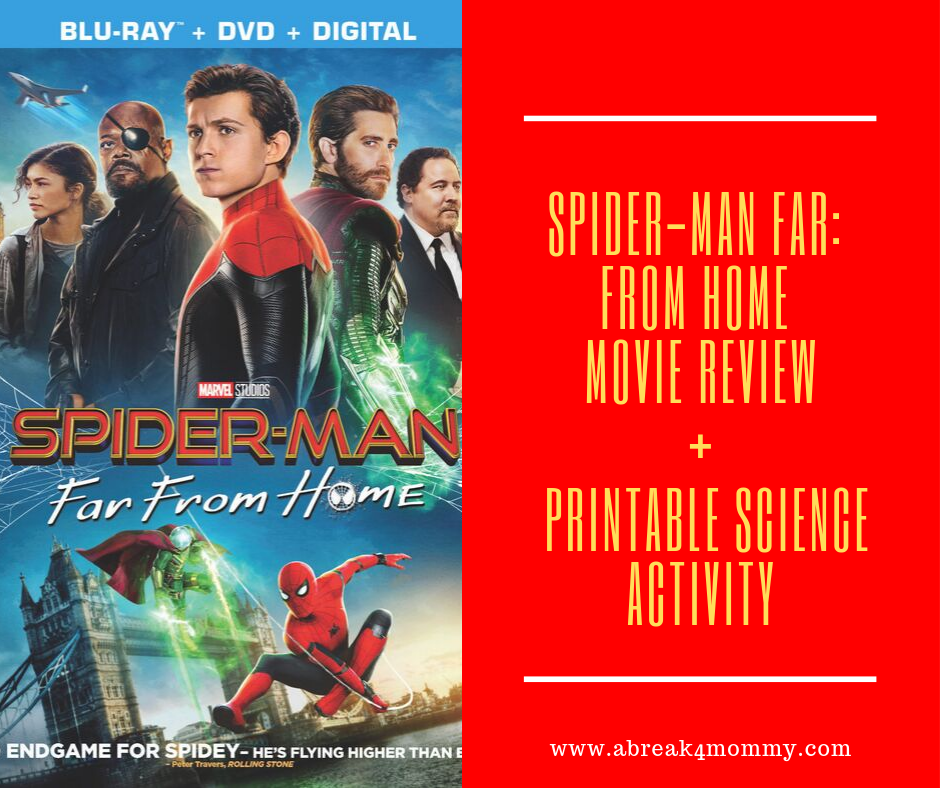 Spider-Man Far: From Home Movie Review + Printable Science Activity