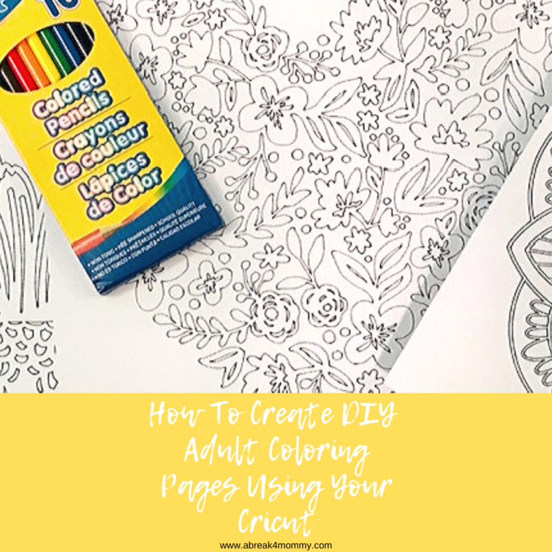 DIY Adult Coloring Pages You Can Create Using Your Cricut