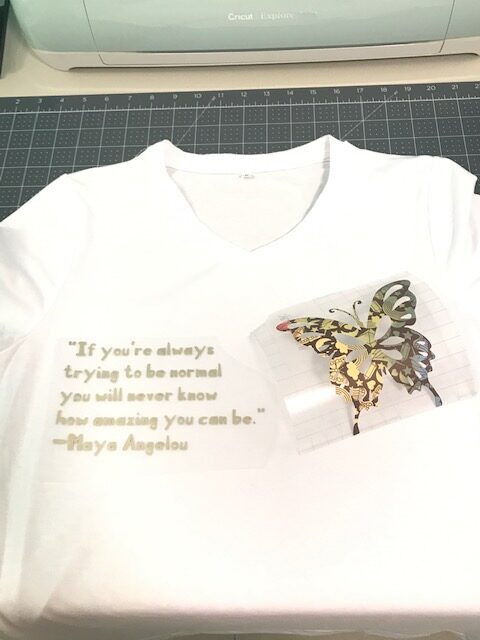 Cricut Infusible Ink T-Shirt Black History Month With Dr. Maya Angelou