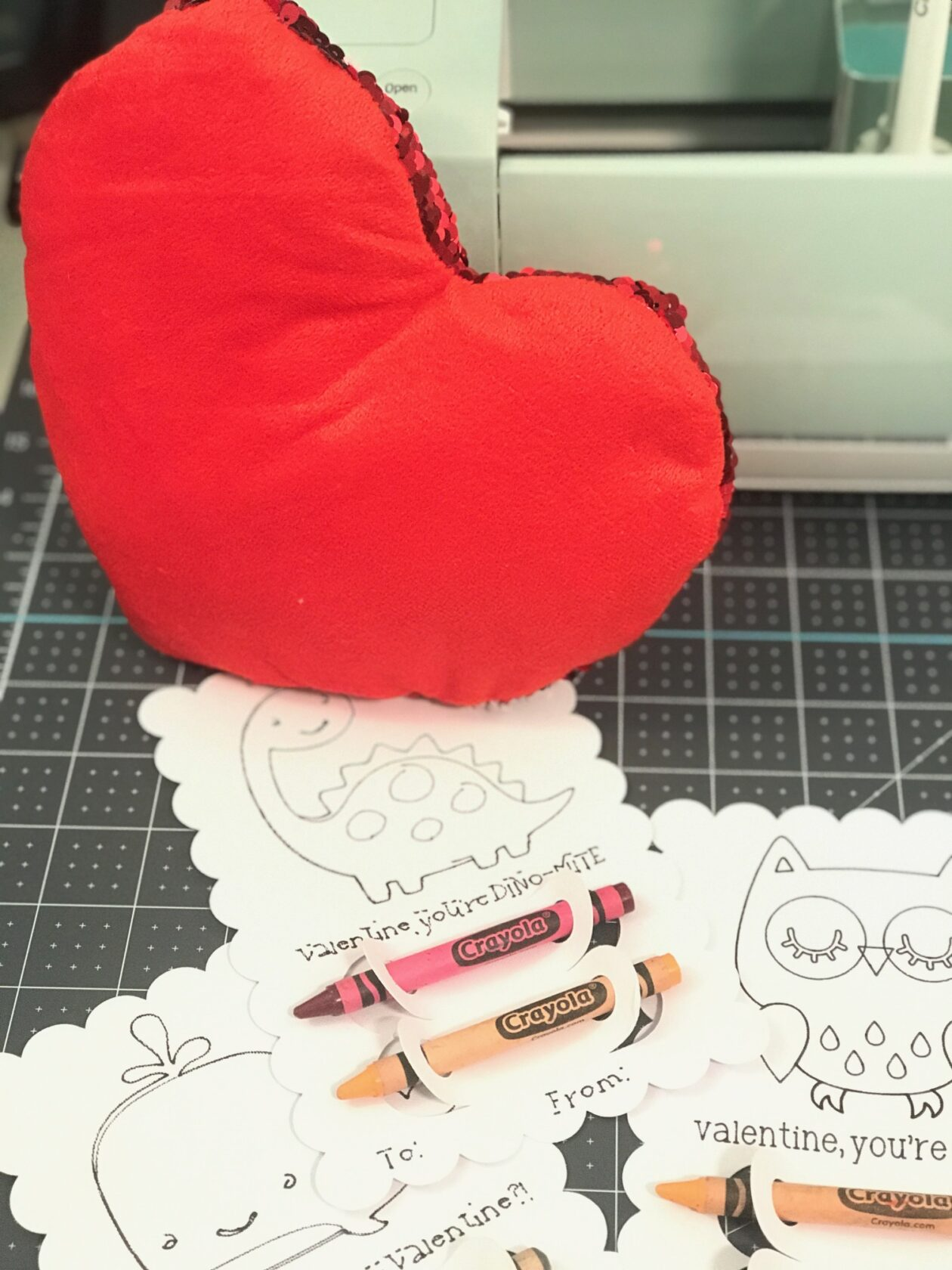 Cricut Valentine's Day Cards For Kids Classmates