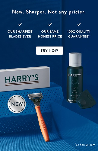 HARRY'S Razors|Just pay $3 Get a FREE Trial Set of Razors  and Shave Gel